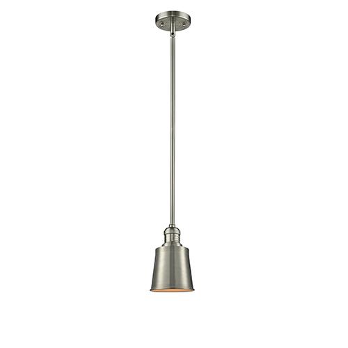Innovations Lighting Addison Brushed Satin Nickel Six-Inch LED Mini Pendant