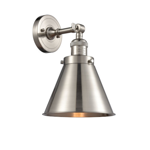 Appalachian Brushed Satin Nickel One-Light Wall Sconce