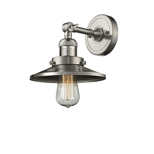 Innovations Lighting Railroad Brushed Satin Nickel One-Light Wall Sconce