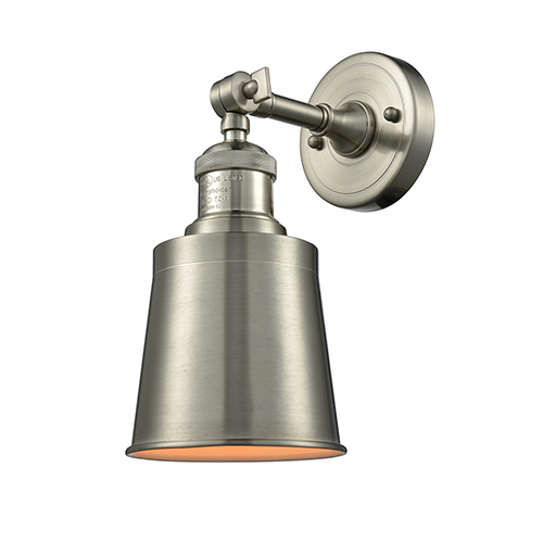 Innovations Lighting Addison Brushed Satin Nickel One-Light Wall Sconce