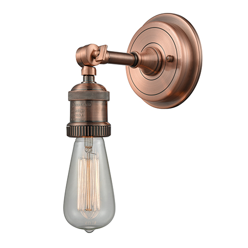 Innovations Lighting Bare Bulb Antique Copper Five-Inch One-Light Wall Sconce