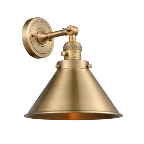 Franklin Restoration Brushed Brass 10-Inch One-Light Wall Sconce