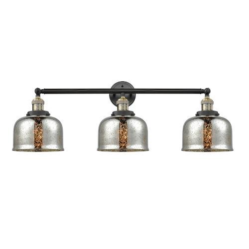 Large Bell Black Antique Brass Three-Light Adjustable Bath Vanity