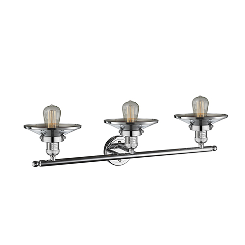 Innovations Lighting Railroad Polished Chrome Three-Light Bath Vanity