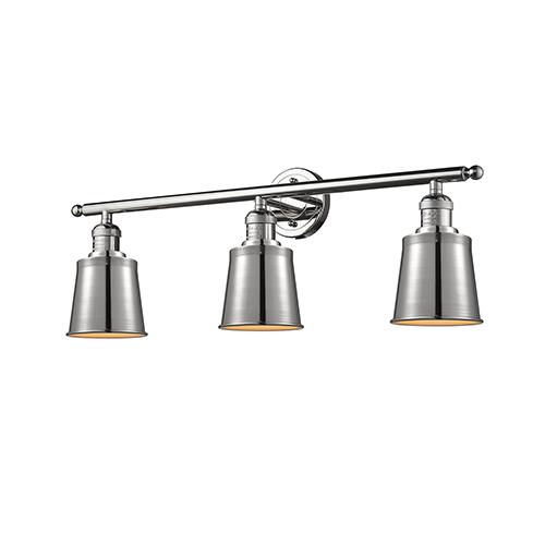 Innovations Lighting Addison Polished Nickel Three-Light Bath Vanity