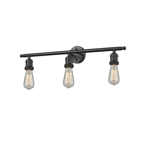 Innovations Lighting Bare Bulb Oiled Rubbed Bronze 30-Inch Three-Light LED Bath Vanity