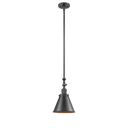 Franklin Restoration Oil Rubbed Bronze One-Light Mini Pendant with Appalachian Oil Rubbed Bronze Metal Shade and Wire