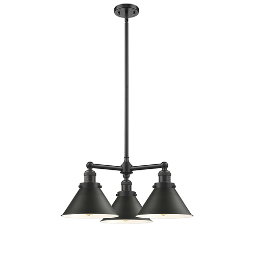 Innovations Lighting Briarcliff Oiled Rubbed Bronze Three-Light LED Chandelier with Oil Rubbed Bronze Metal Shade
