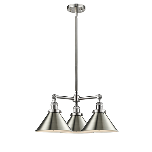 Innovations Lighting Briarcliff Brushed Satin Nickel Three-Light LED Chandelier
