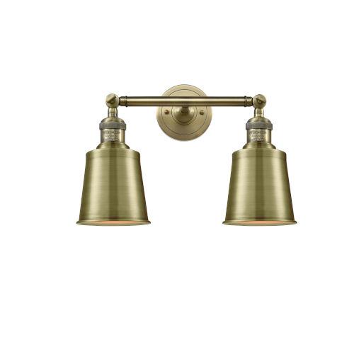 Addison Antique Brass Two-Light Bath Vanity