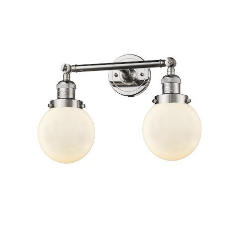 Beacon Polished Nickel Two-Light Bath Vanity