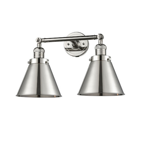 Franklin Restoration Polished Nickel Two-Light Bath Vanity