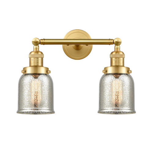 Franklin Restoration Satin Gold 15-Inch Two-Light LED Bath Vanity