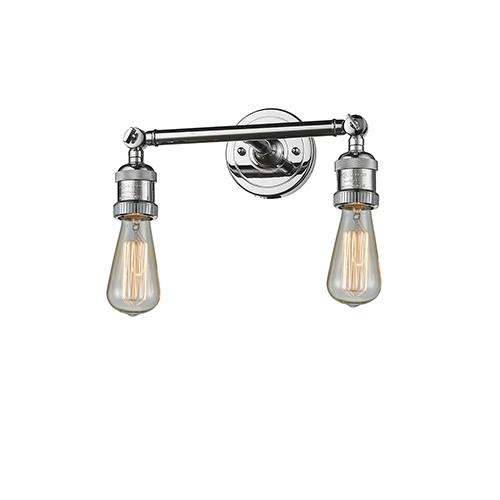 Innovations Lighting Bare Bulb Polished Chrome 11-Inch Two-Light Bath Vanity