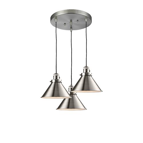 Innovations Lighting Briarcliff Brushed Satin Nickel Three-Light Pendant