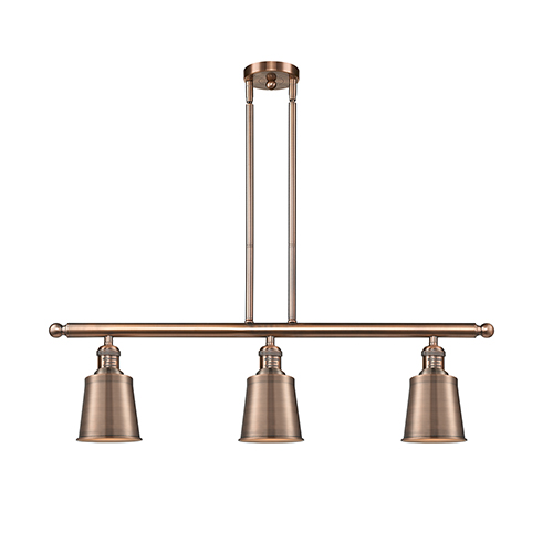 Innovations Lighting Addison Antique Copper Three-Light Island Pendant