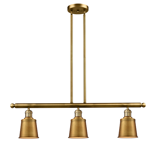 Innovations Lighting Addison Brushed Brass Three-Light LED Island Pendant