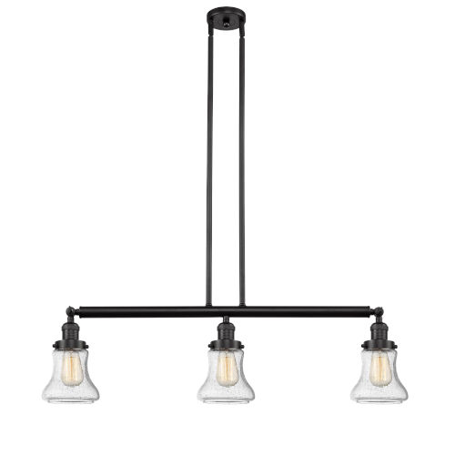 Innovations Lighting Bellmont Oiled Rubbed Bronze Three Light LED - Three light island pendant