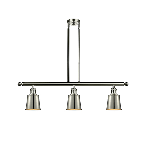 Addison Polished Nickel Three-Light LED Island Pendant