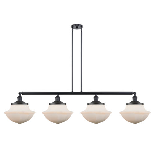 Franklin Restoration Matte Black 54-Inch Four-Light LED Island Chandelier