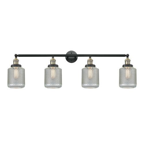 Stanton Black Antique Brass Four-Light LED Bath Vanity