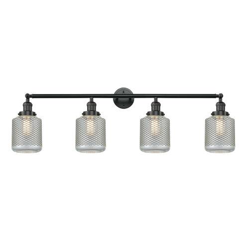 Stanton Matte Black Four-Light LED Bath Vanity