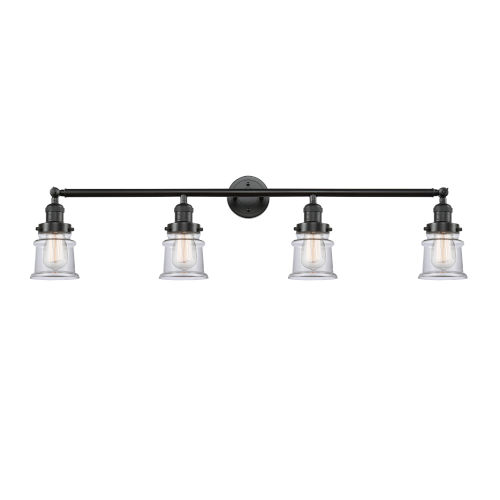 Franklin Restoration Oil Rubbed Bronze 42-Inch Four-Light Bath Vanity with Clear Canton Shade