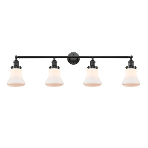 Franklin Restoration Oil Rubbed Bronze 42-Inch Four-Light LED Bath Vanity with Matte White Bellmont Shade