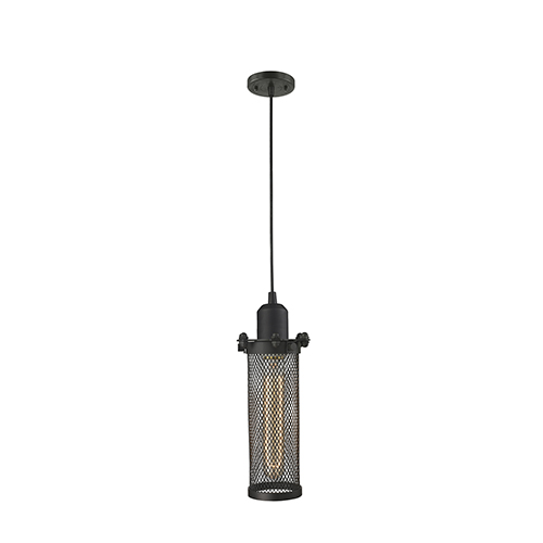 Quincy Hall Oiled Rubbed Bronze Four-Inch One-Light Mini Pendant