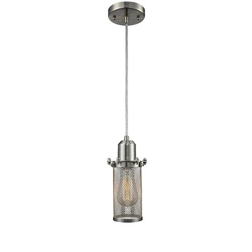 Innovations Lighting Quincy Hall Brushed Satin Nickel LED Mini Pendant