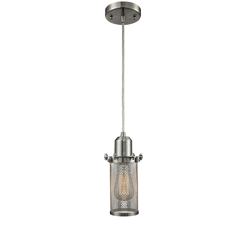 Innovations Lighting Quincy Hall Brushed Satin Nickel Five-Inch One-Light Mini Pendant