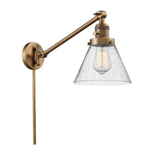 Large Cone Swing Arm Wall Sconce