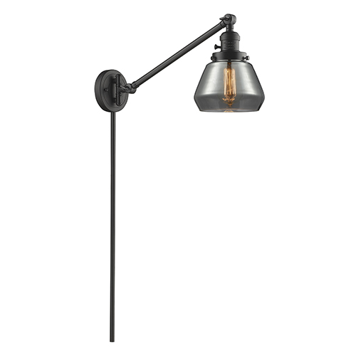 Innovations Lighting Fulton Oiled Rubbed Bronze 25-Inch LED Swing Arm Wall Sconce with Smoked Sphere Glass