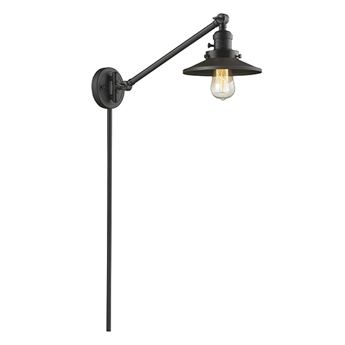 Innovations Lighting Railroad Oiled Rubbed Bronze 25-Inch LED Swing Arm Wall Sconce