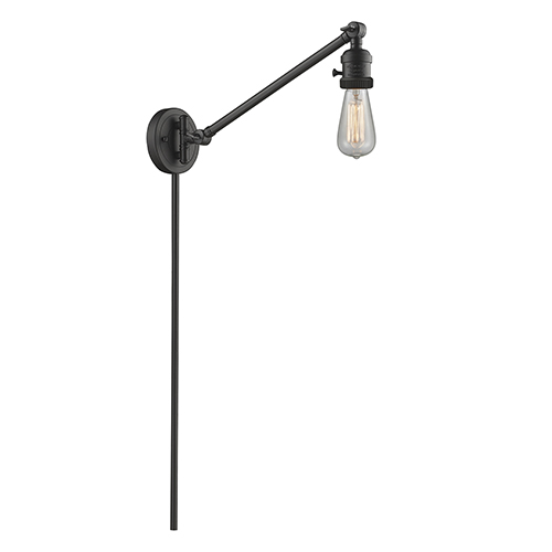 Bare Bulb Oiled Rubbed Bronze 25-Inch One-Light Swing Arm Wall Sconce
