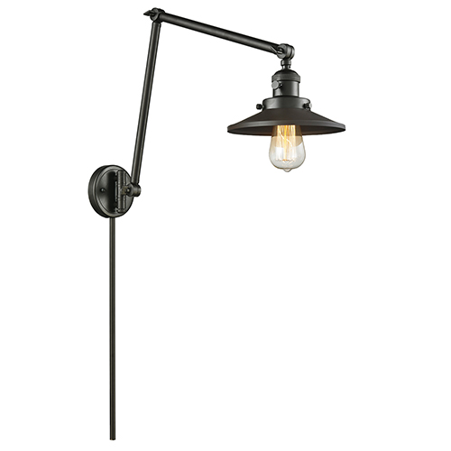 Railroad Oiled Rubbed Bronze 30-Inch LED Swing Arm Wall Sconce
