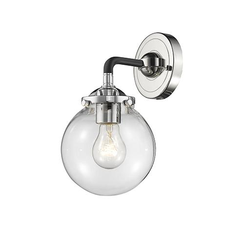 Glass Globe Sconce Bellacor - Globe bathroom sconce