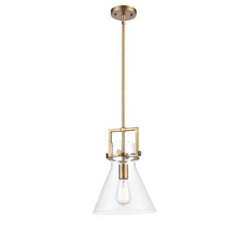 Newton Brushed Brass 14-Inch LED Pendant