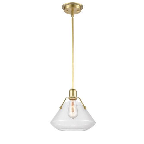 Luna Satin Brass One-Light Pendant