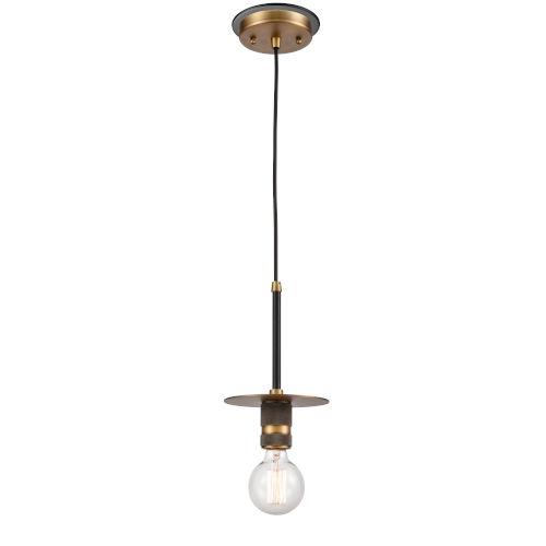 Aurora Black Brushed Brass LED Mini Pendant