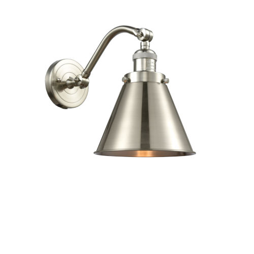 Franklin Restoration Brushed Satin Nickel 12-Inch LED Wall Sconce with Appalachian Brushed Satin Nickel Metal Shade