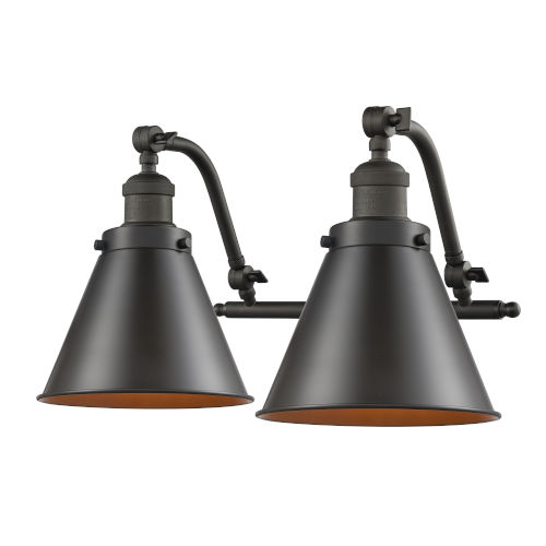 Franklin Restoration Oil Rubbed Bronze 18-Inch Two-Light LED Bath Vanity with Appalachian Metal Shade