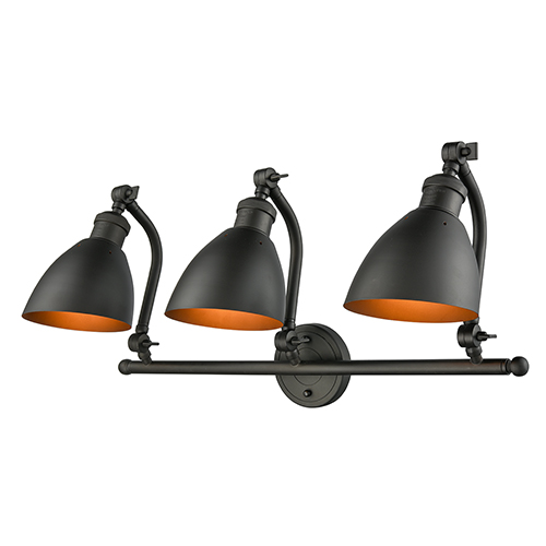 Innovations Lighting Salem Oiled Rubbed Bronze Three-Light Bath Vanity