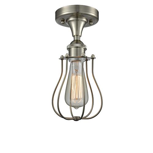 Innovations Lighting Kingsbury Brushed Satin Nickel LED Semi Flush Mount
