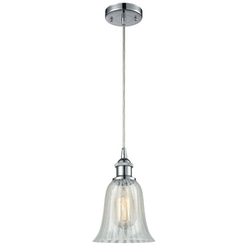 Hanover Polished Chrome One-Light Mini Pendant with Mouchette Glass