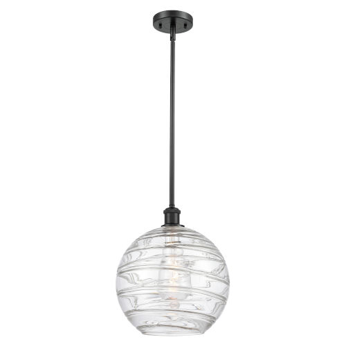 Ballston Matte Black 12-Inch LED Pendant with Clear Glass Shade