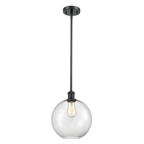 Ballston Matte Black 10-Inch One-Light Pendant with Clear Large Athens Shade