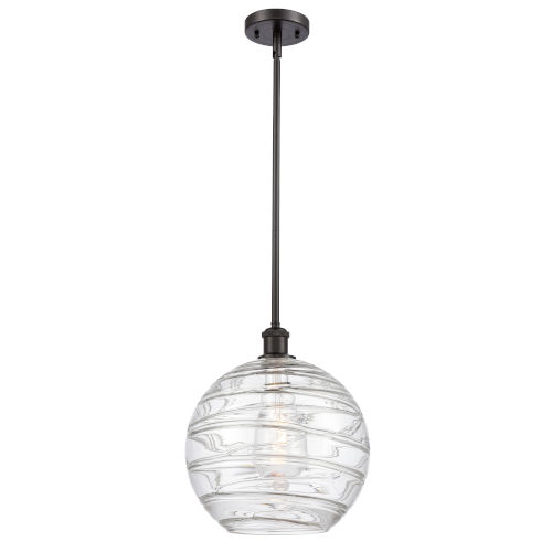 Ballston Oil Rubbed Bronze 12-Inch One-Light Pendant with Clear Glass Shade