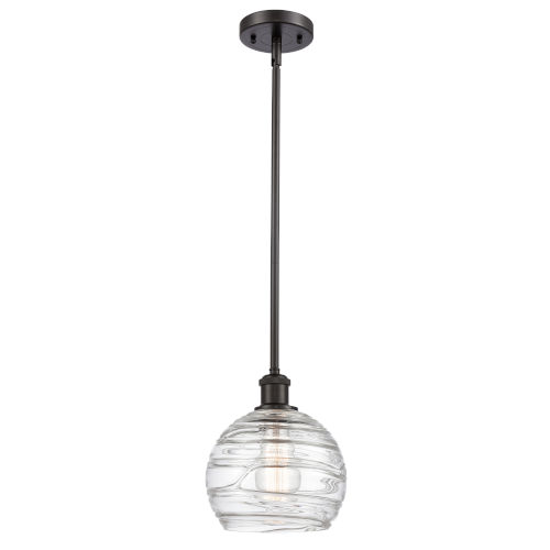 Ballston Oil Rubbed Bronze Eight-Inch One-Light Mini Pendant with Clear Glass Shade