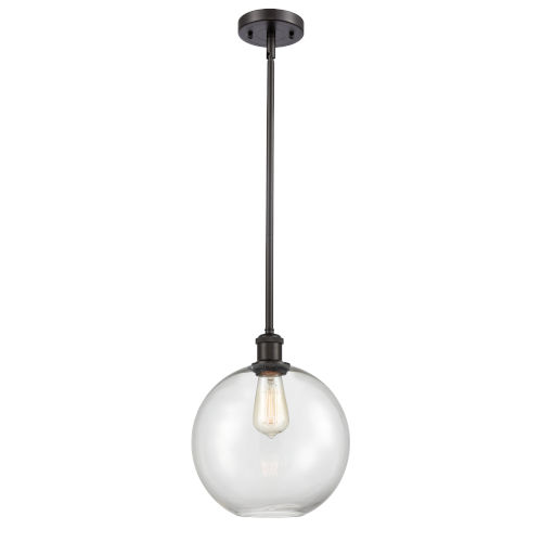 Ballston Oil Rubbed Bronze 10-Inch One-Light Pendant with Clear Large Athens Shade